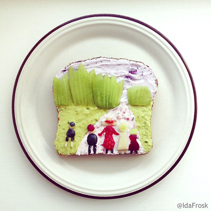 Edvard Munch - The Enchanted Forest Made by Ida Frosk On Toast