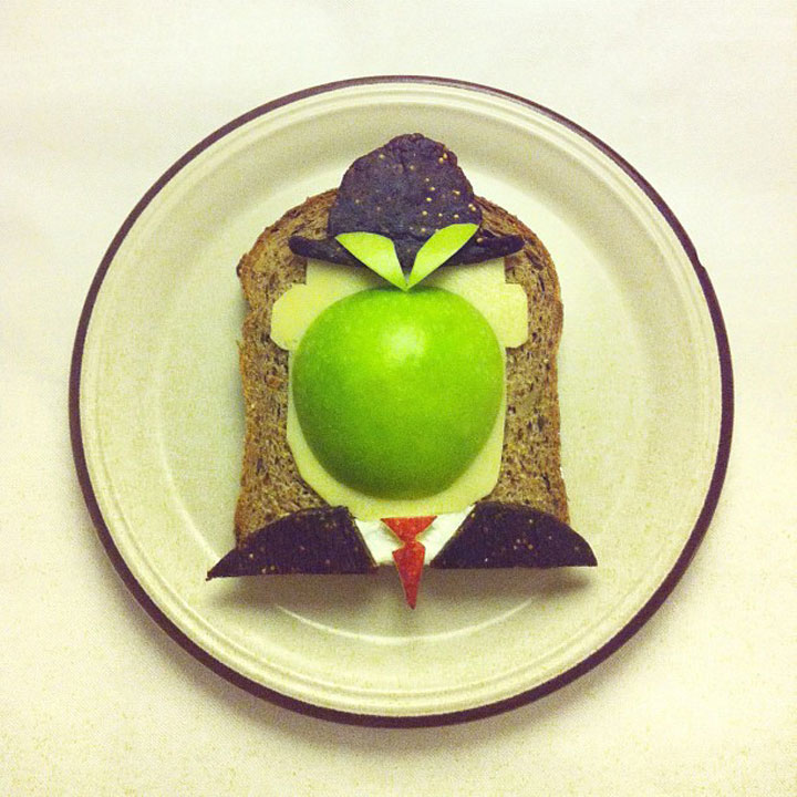 René Magritte - The Son of Man Made by Ida Frosk On Toast