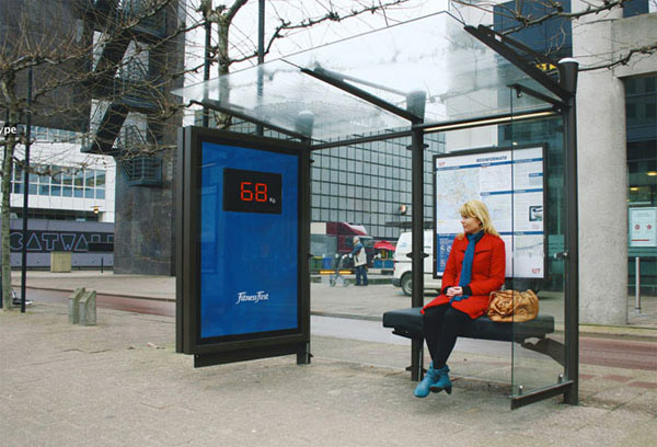 Fitness First (Famous chain of fitness centers)-Amazing Ads That Merge With Their Surroundings