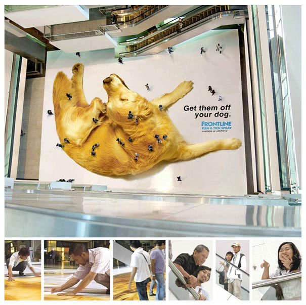 Frontline - Remove the chip of your dogs!-Amazing Ads That Merge With Their Surroundings