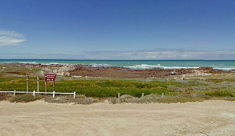 End Of the Road Cape Agulhas, South Africa
