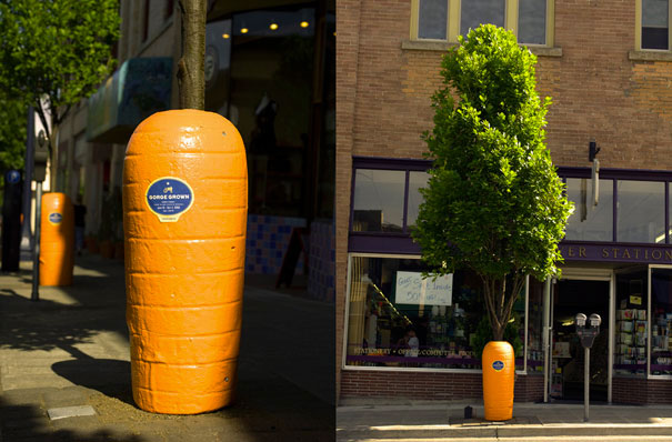 Gorge Grown Farmers Market-Amazing Ads That Merge With Their Surroundings