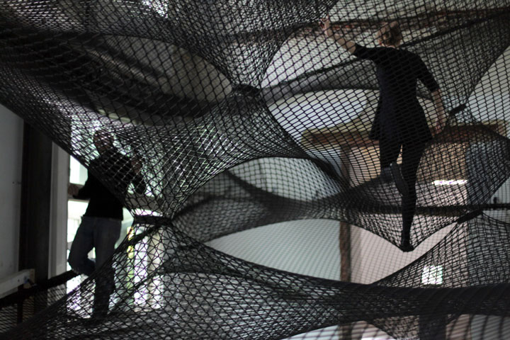 Hand-Woven installation by Numen / For Use