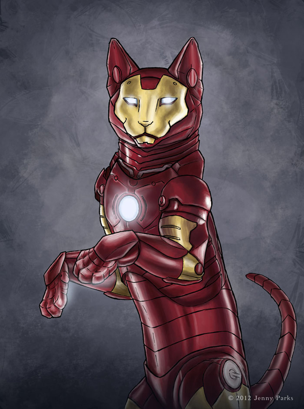 Iron-cat-Cats-Play-As Your-Favorite-Superheros