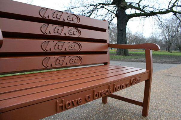 KitKat - Bench-Amazing Ads That Merge With Their Surroundings