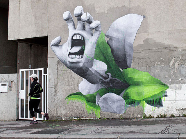 A Parisian Artist Combining Nature and Technology For His Street Artwork (Photo Gallery)