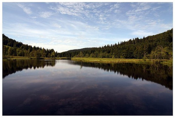 Looks Like Canada ...(Location Lake Lispach, Vosges)    Landscapes of France That Give A Foreign Look