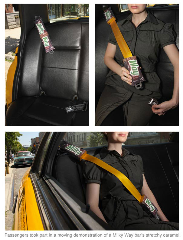 Milky Way: Seatbelt-Amazing Ads That Merge With Their Surroundings