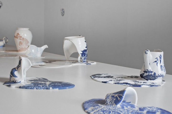 An Amazing Collection Of Molten Porcelain Artwork Photo