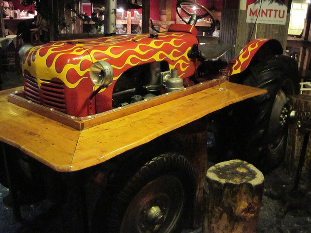 The Restaurant Zetor, Helsinki, Finland, which carries the brand name of Czech tractors