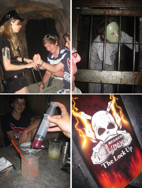 Eat in a haunted prison, go to Lockup (The Eight-closed) in Tokyo, Japan