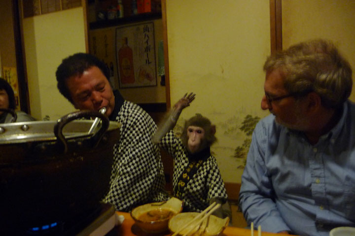 Kayabukiya Tavern, Japan,  a restaurant where the waitresses are replaced by monkeys