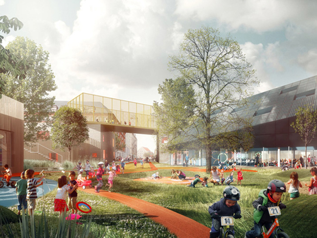 Prinsessegade Kindergarten and Youth Club: World's largest children park