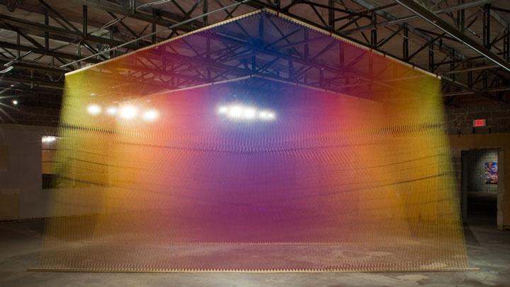 Prismatic Installations by Gabriel Dawe