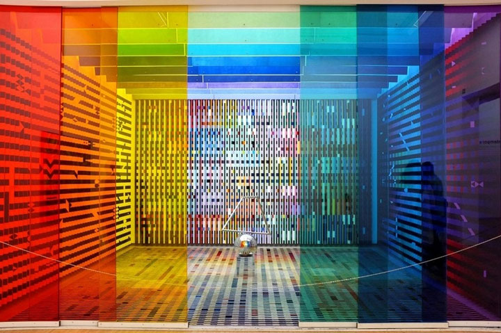 Rainbow installation at the Centre Pompidou, Paris