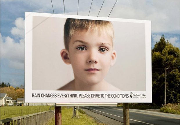 Driving In Rain: Highly Creative advertisement Examples