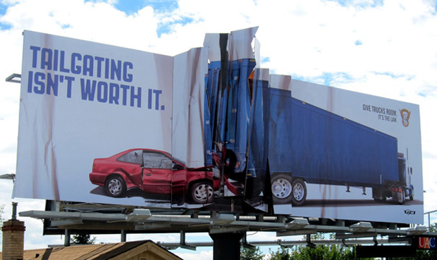 Car accident: Highly Creative advertisement Examples