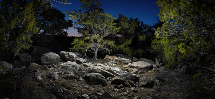Harold Ross: The Night Scenery Made Surreal Using LED Light