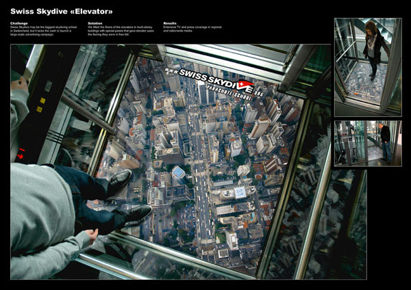 Swiss Skydive - Lift-Amazing Ads That Merge With Their Surroundings