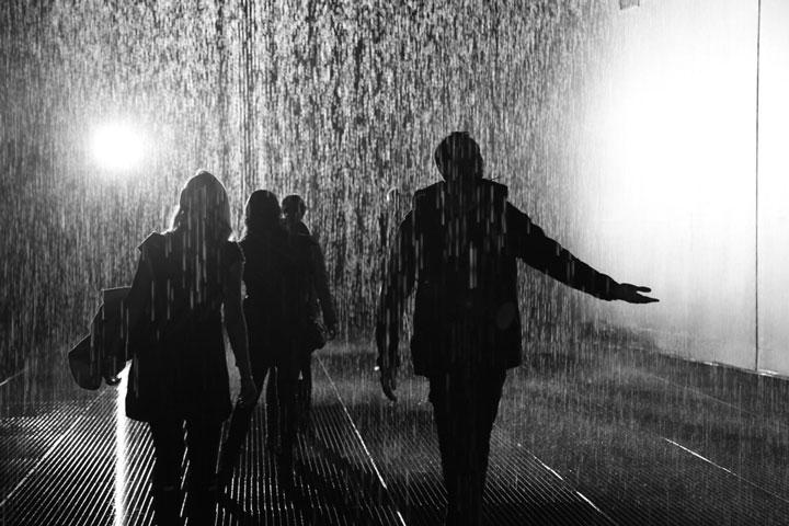 The Rain Room, Barbican, London