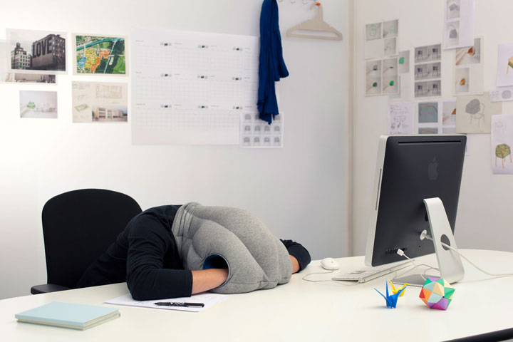 The hood pillow for a nap anywhere, anytime