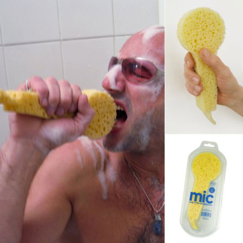 The micro-sponge for Lara Fabian sing loudly in the shower (or not)