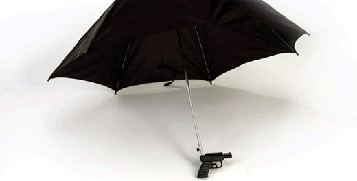 The umbrella-gun for fans of 007