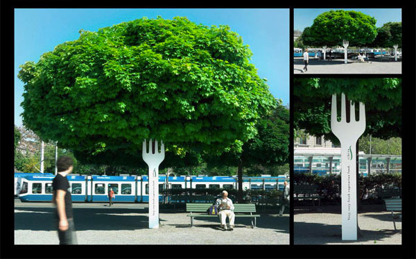 Tibits - The very very fresh vegetarian food-Amazing Ads That Merge With Their Surroundings