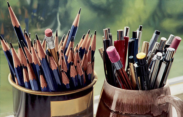 Pencils: Ultra-Realistic Paintings That Merge With Reality by Steve Mills