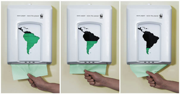 WWF - Save Paper - Save the Planet-Amazing Ads That Merge With Their Surroundings