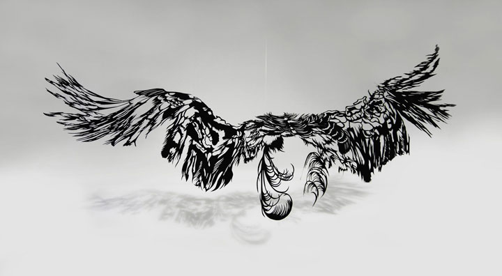 Chandelier- A 3D paper sculpture Made using Krigami