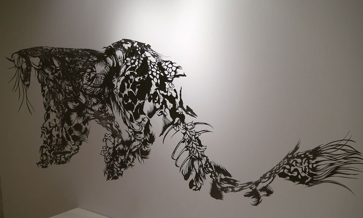 Cloud Leopard- A 3D paper sculpture Made using Krigami