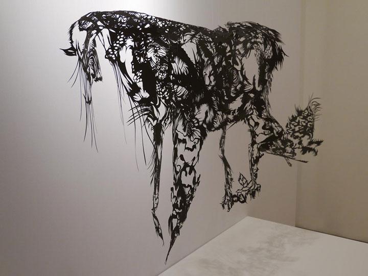 Cloud Leopard- A 3D paper sculpture Made using Krigami