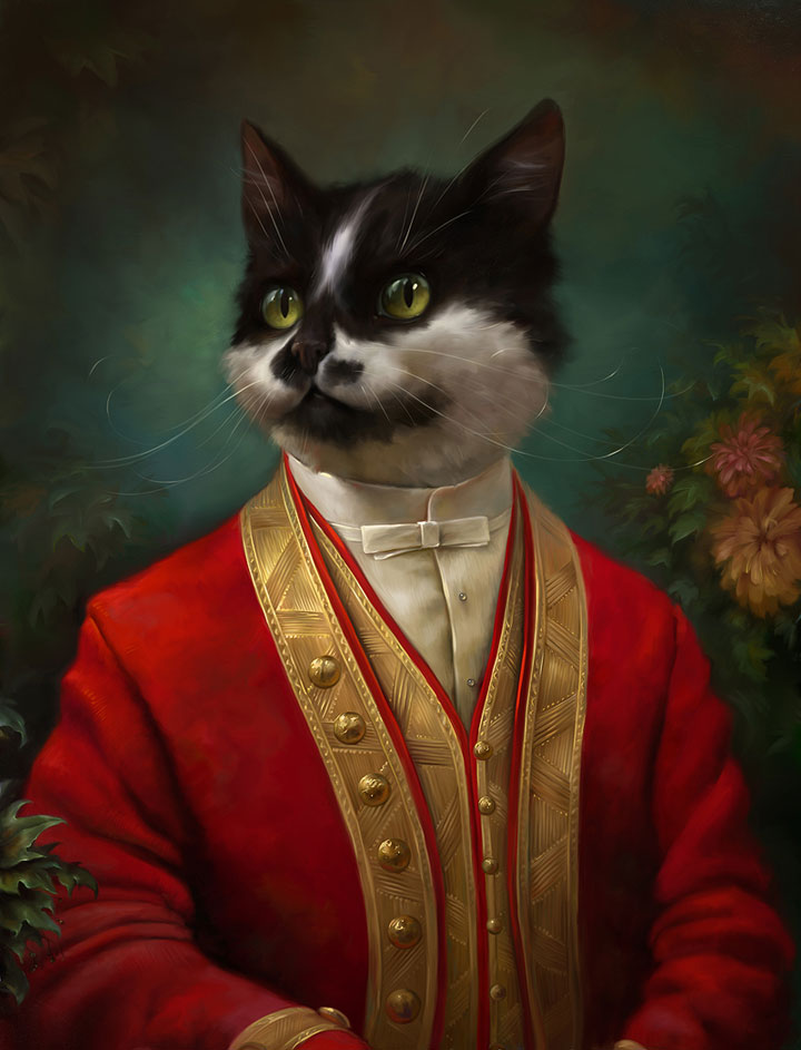 Cats Portrait As Aristocrats 1