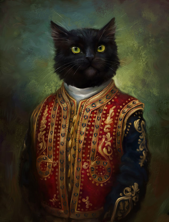 The Hermitage Court Moor Cat in Casual Uniform