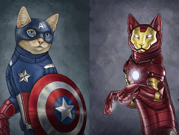 Couv Cat Super Hero Cat