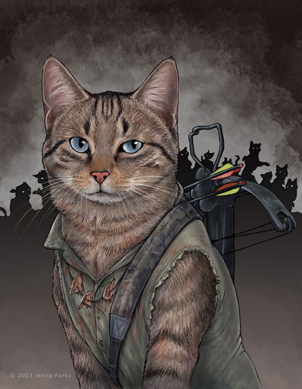 daryldixoncat-Cats-Play-As Your-Favorite-Superheros