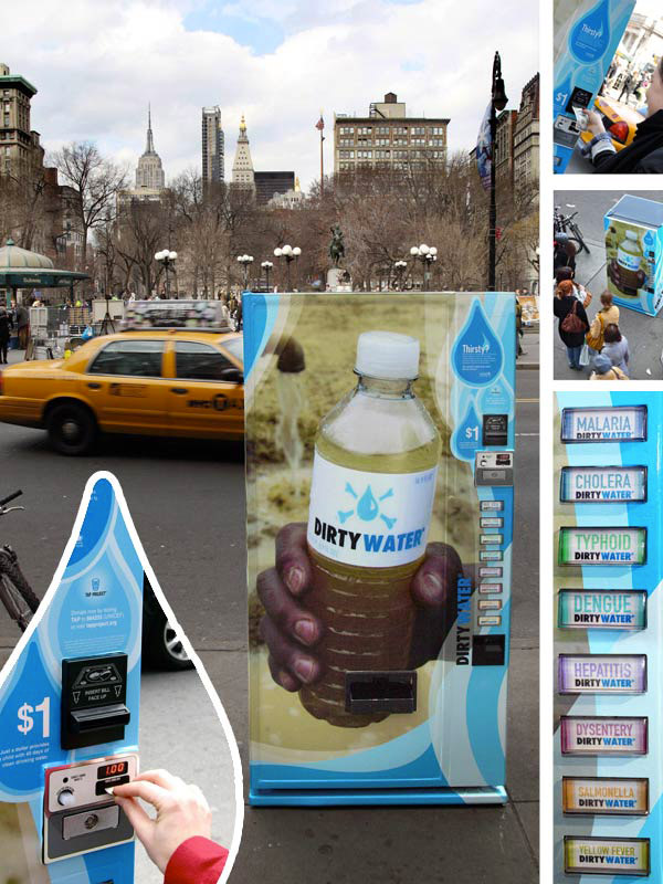 Unicef ​​- A distributor of dirty water-Amazing Ads That Merge With Their Surroundings
