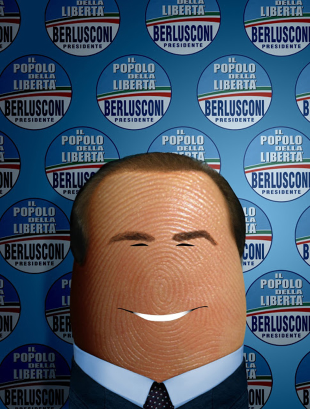 dito Berlusconi-Fingers Take The Shape Of Celebrities