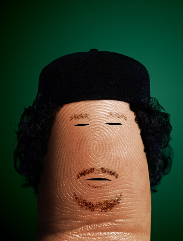 dito Gheddafi- Fingers Take The Shape Of Celebrities