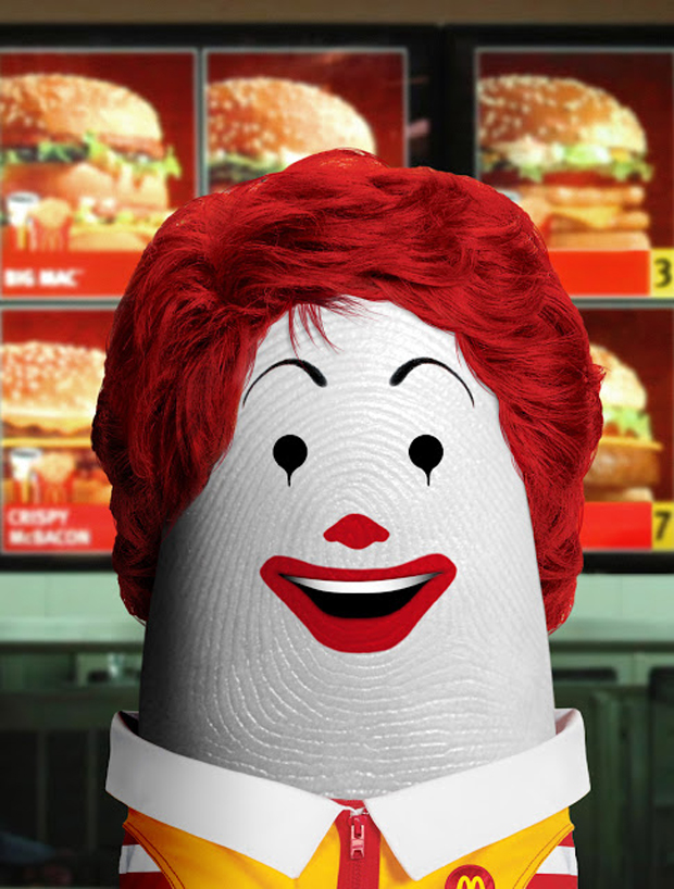 dito Ronald McDonald- Fingers Take The Shape Of Celebrities