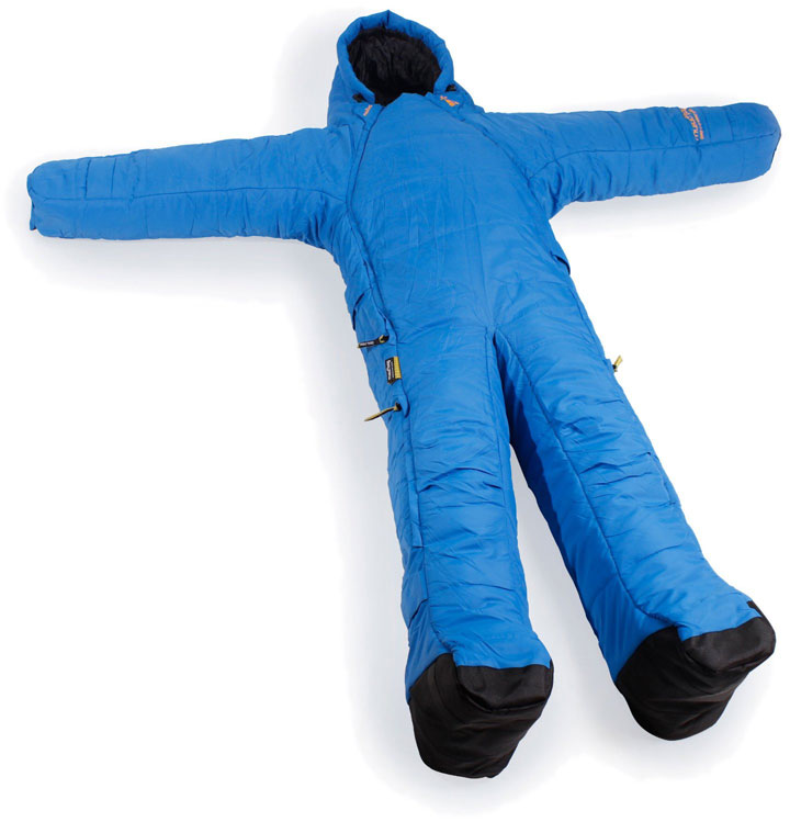 The sleeping bag articulated