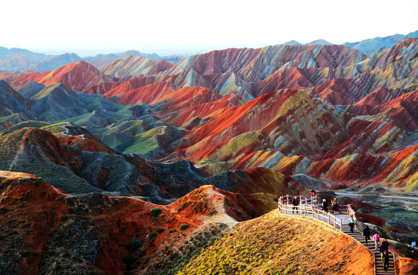Zhangye Danxia, Gansu , China.-The most spectacular coloured mountains