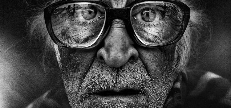 Wrinkled Faces Of Homeless 2
