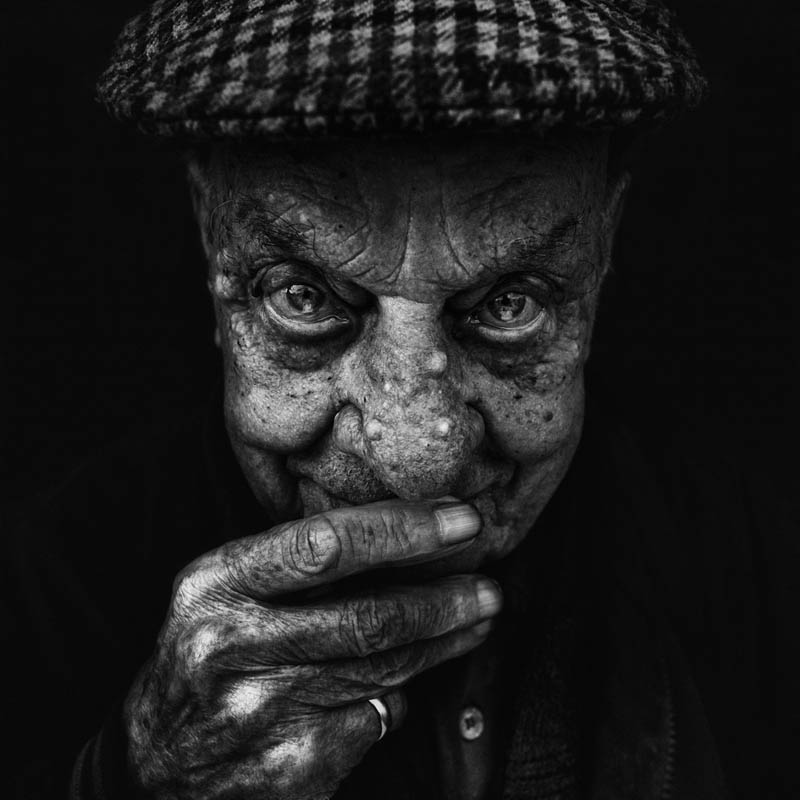 Wrinkled Faces Of Homeless With Intense And Striking Looks