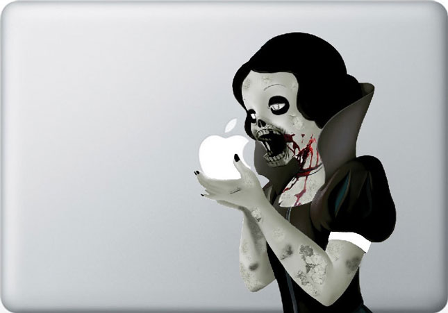 snow white-Must Have Stickers For Apple And Video Game Geeks