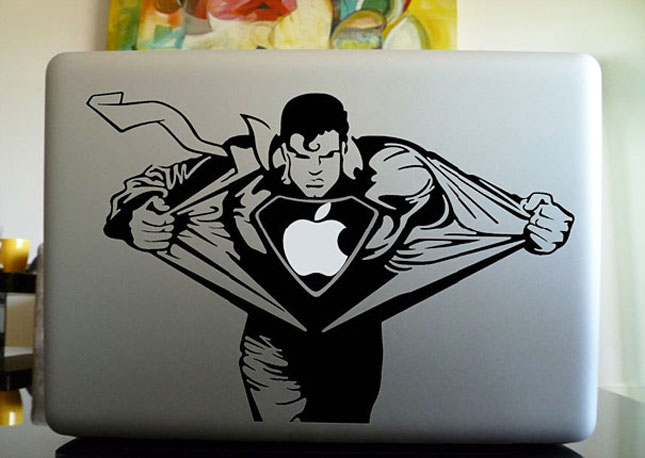 stickers superman-Must Have Stickers For Apple And Video Game Geeks