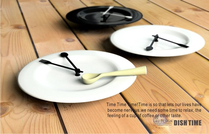 Eating table clock:Unusual And Original Clock Designs