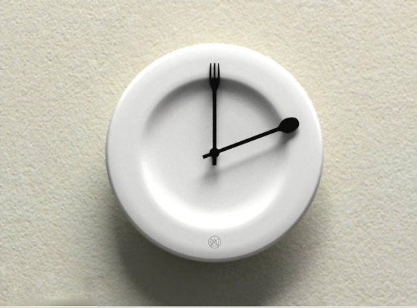 Eating table: Unusual And Original Clock Designs