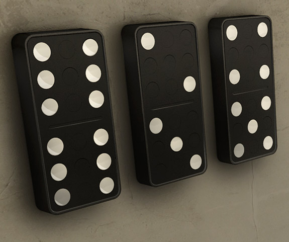 Domino clock: Unusual And Original Clock Designs